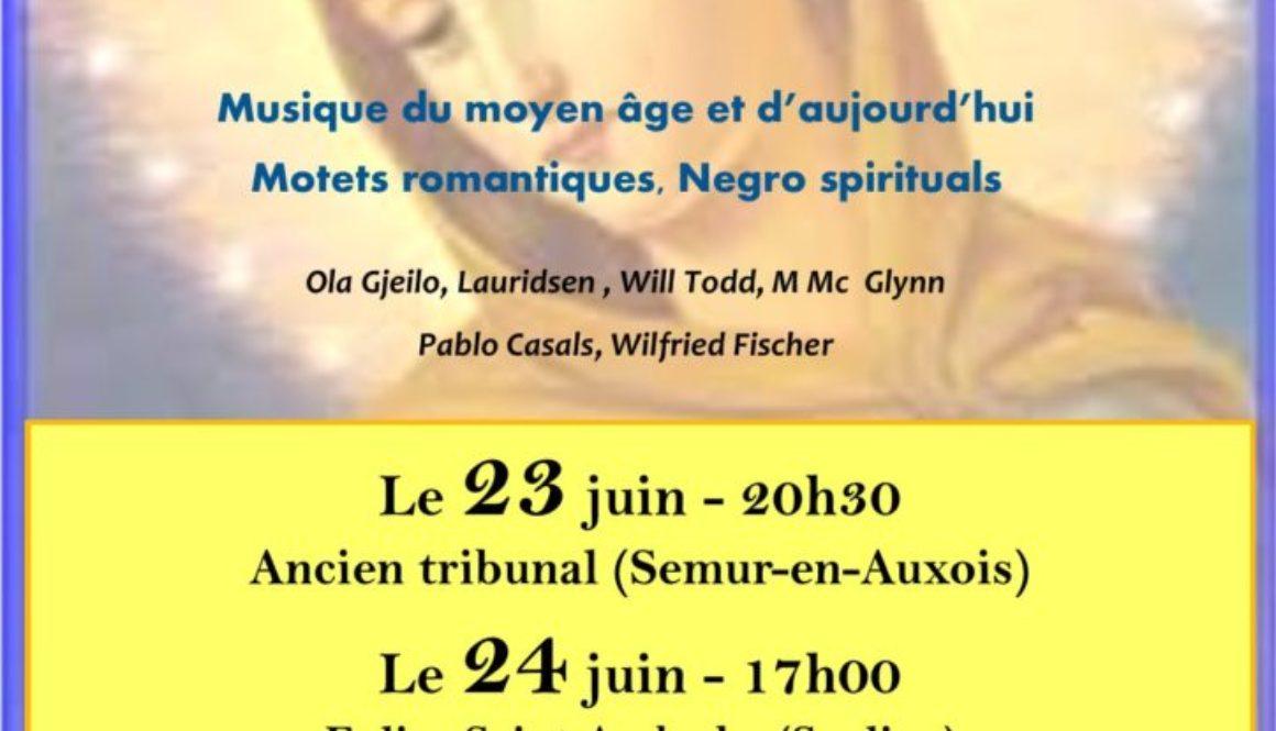 CONCERT SPIRITUEL SAULIEU DIMANCHE 24 JUIN