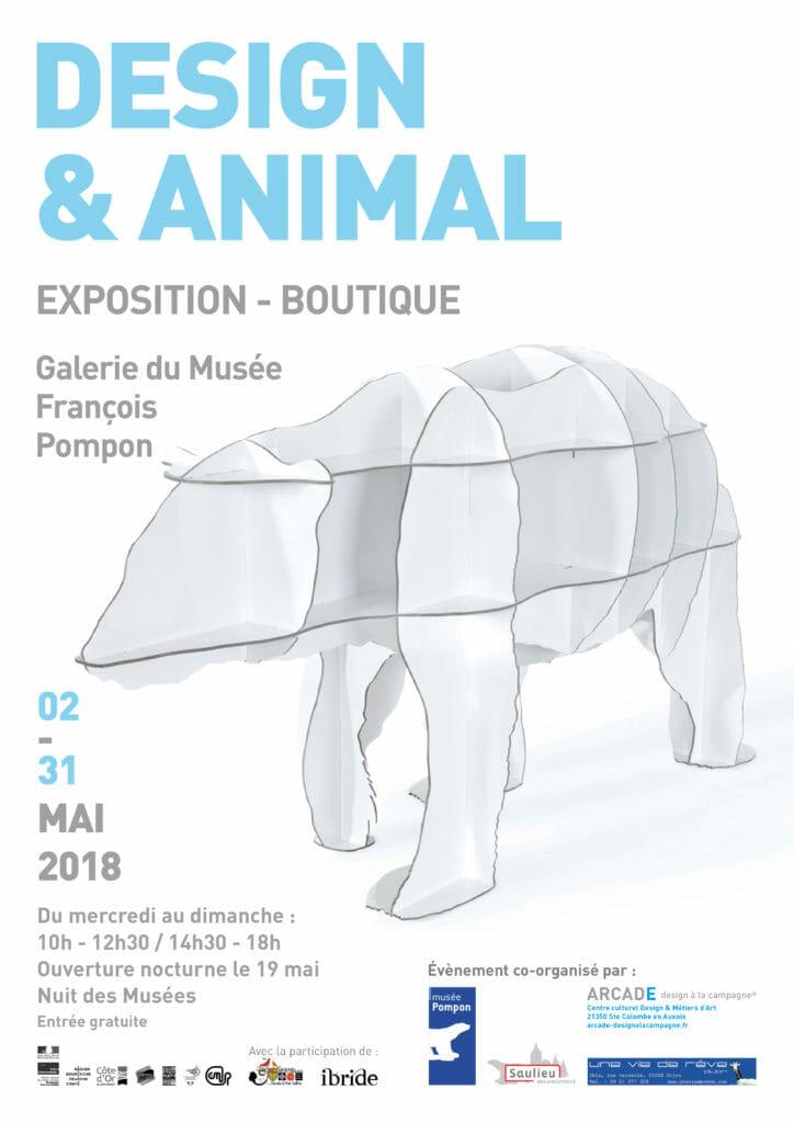 Aff Design & Animal 2018 Musée Pompon_ARCADE_UNE VIE DE REVE