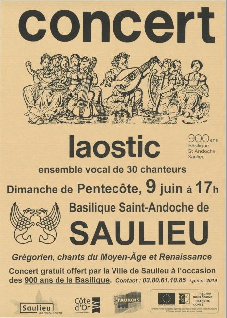 concert laostic 9 juin saulieu